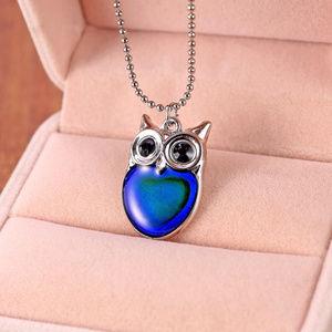 Mood Owl Necklace Changes Color